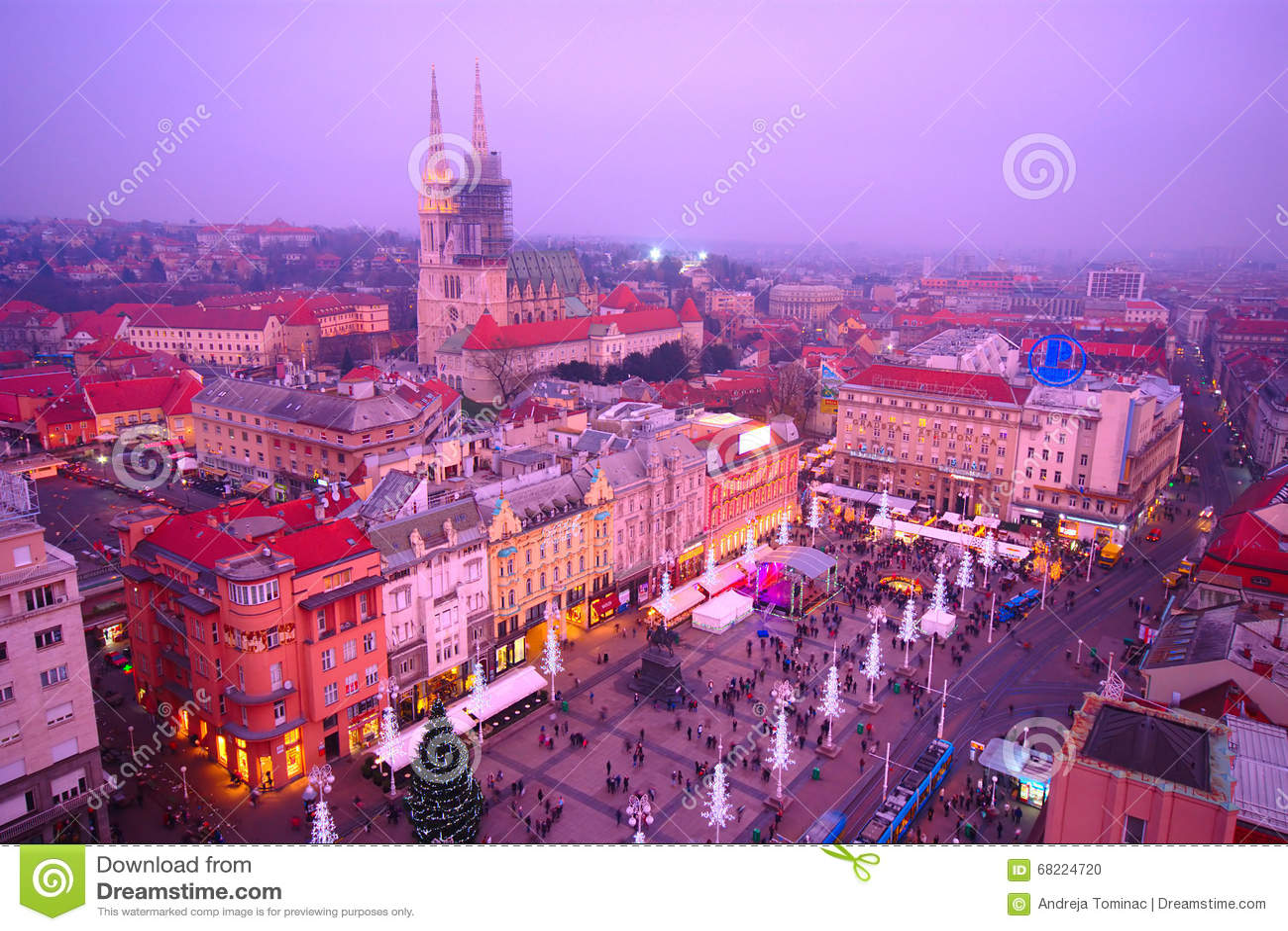Zagreb  s nachts, Kroatië