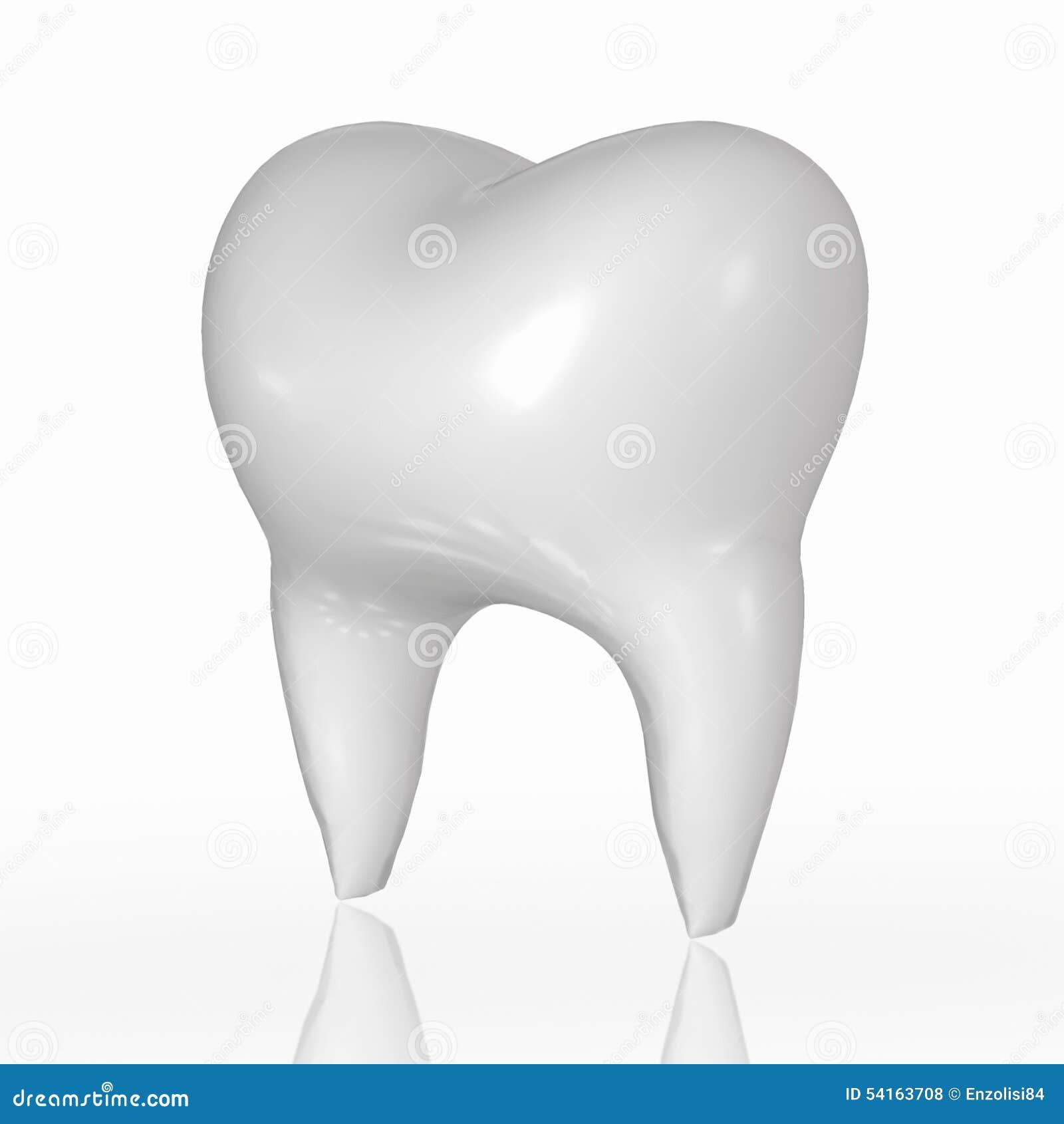 Zahn 3D stock abbildung. Illustration von toothache, zahnarzt - 54163708