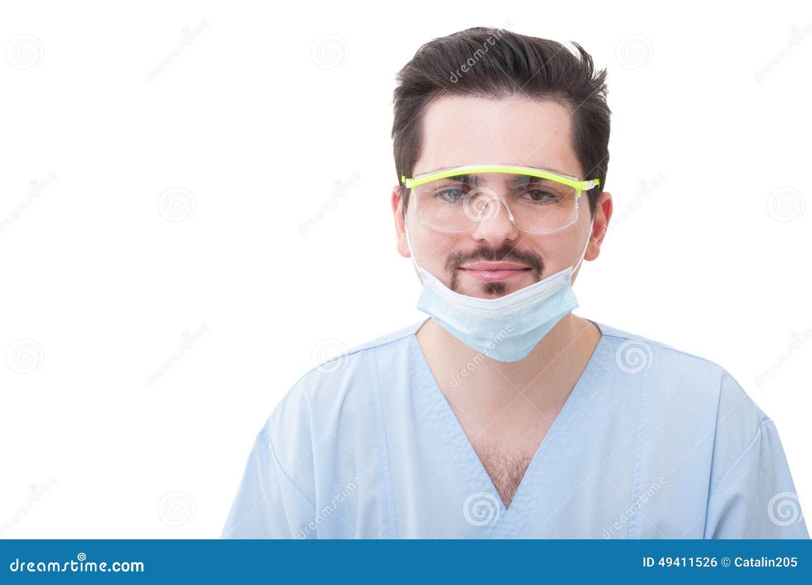 Download Zahnarzt, Der Auf Weißem Hintergrund Lächelt Stockfoto - Bild von medizin, medizinisch: 49411526