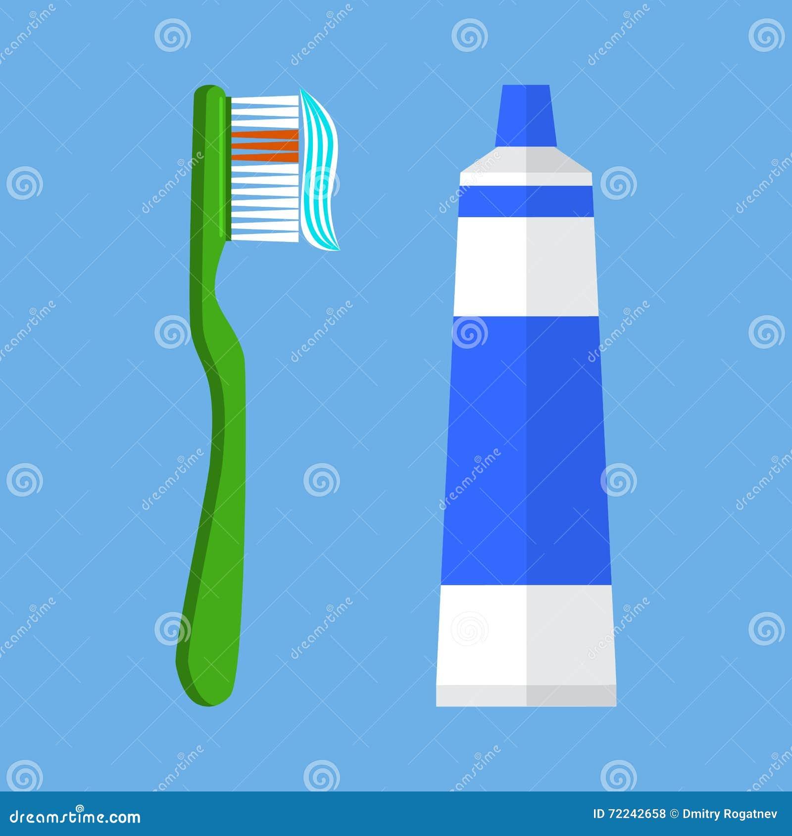 Zahnbürstenvektorillustration