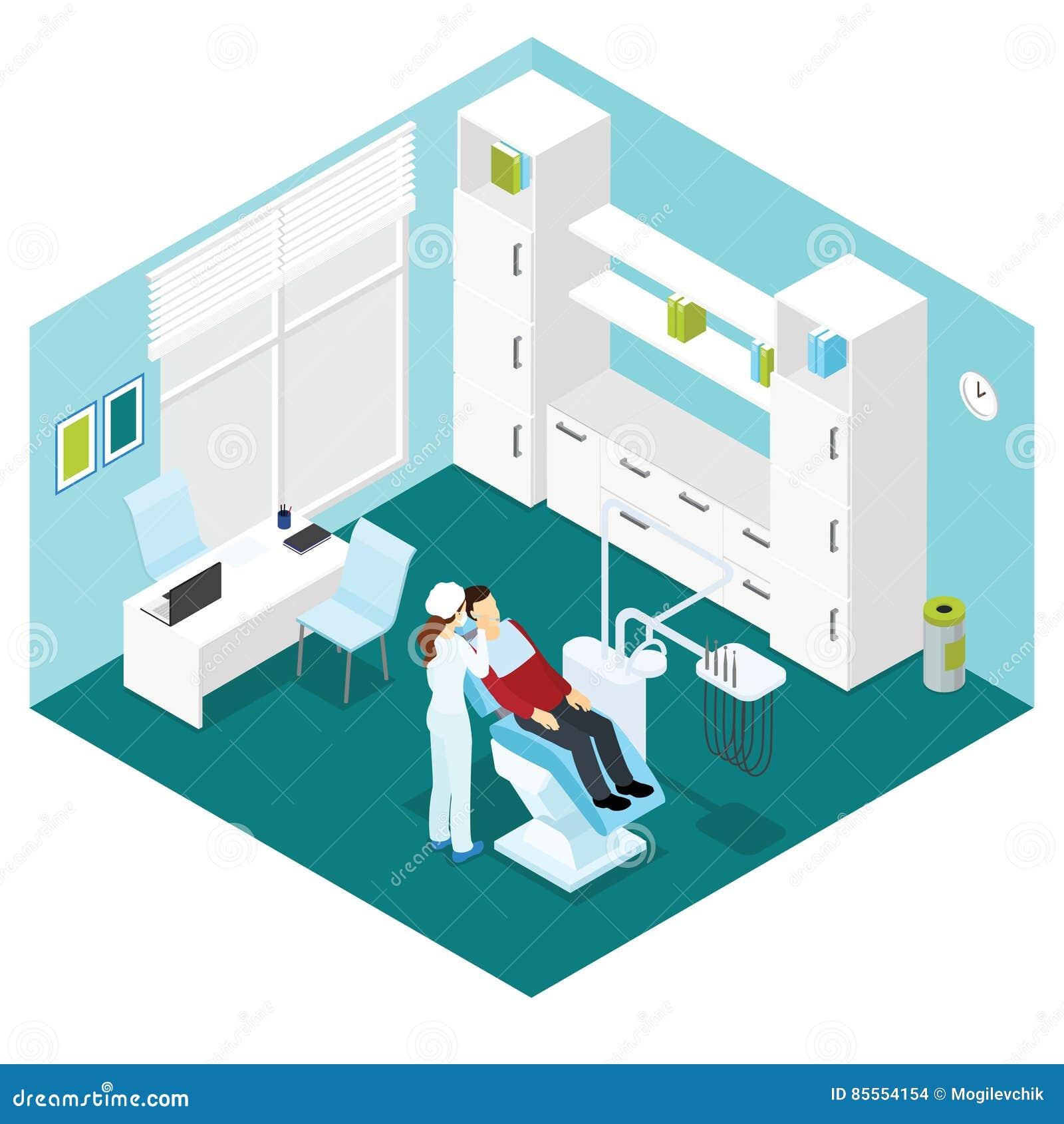 Zahnmedizinische Klinik-isometrische Zusammensetzung
