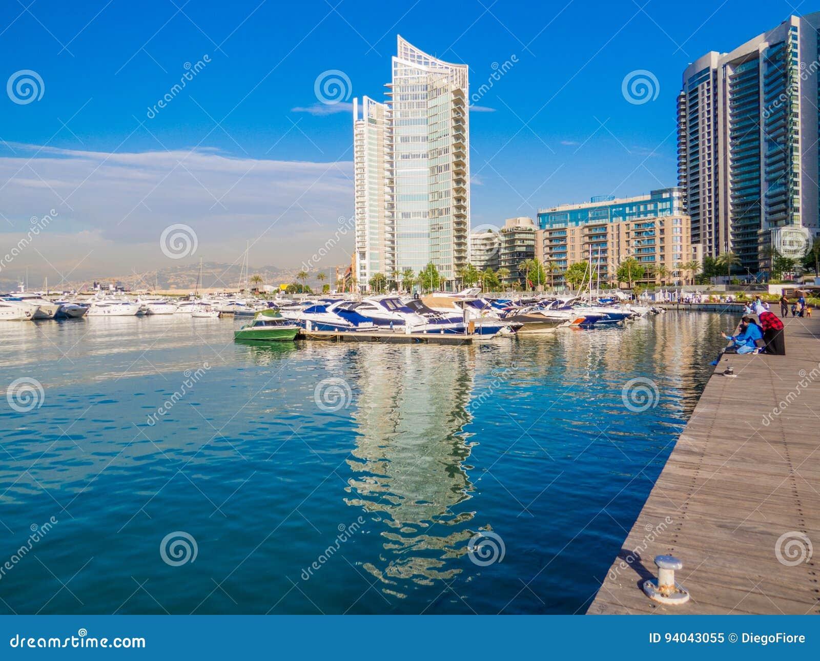 Zaitunay海湾在贝鲁特,黎巴嫩