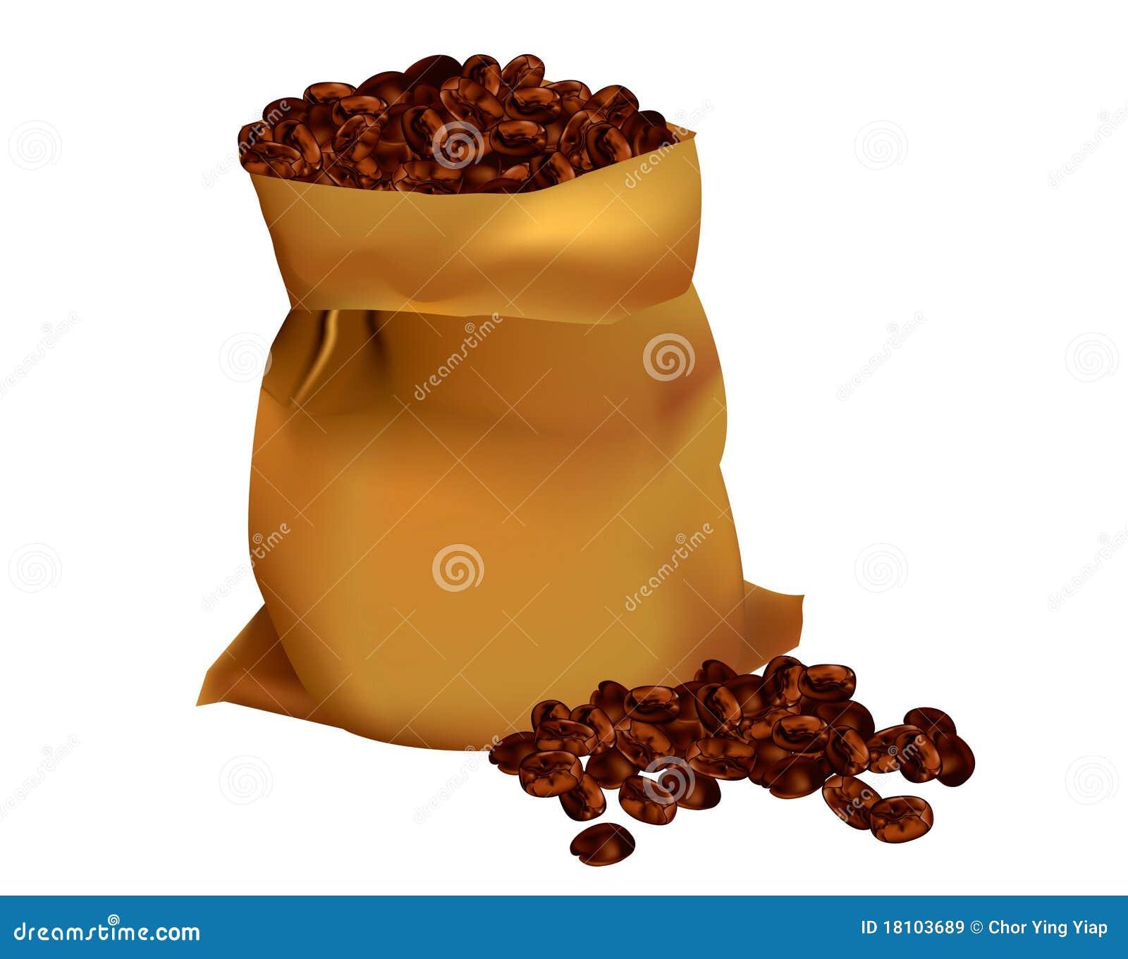 Zak van koffiebonen