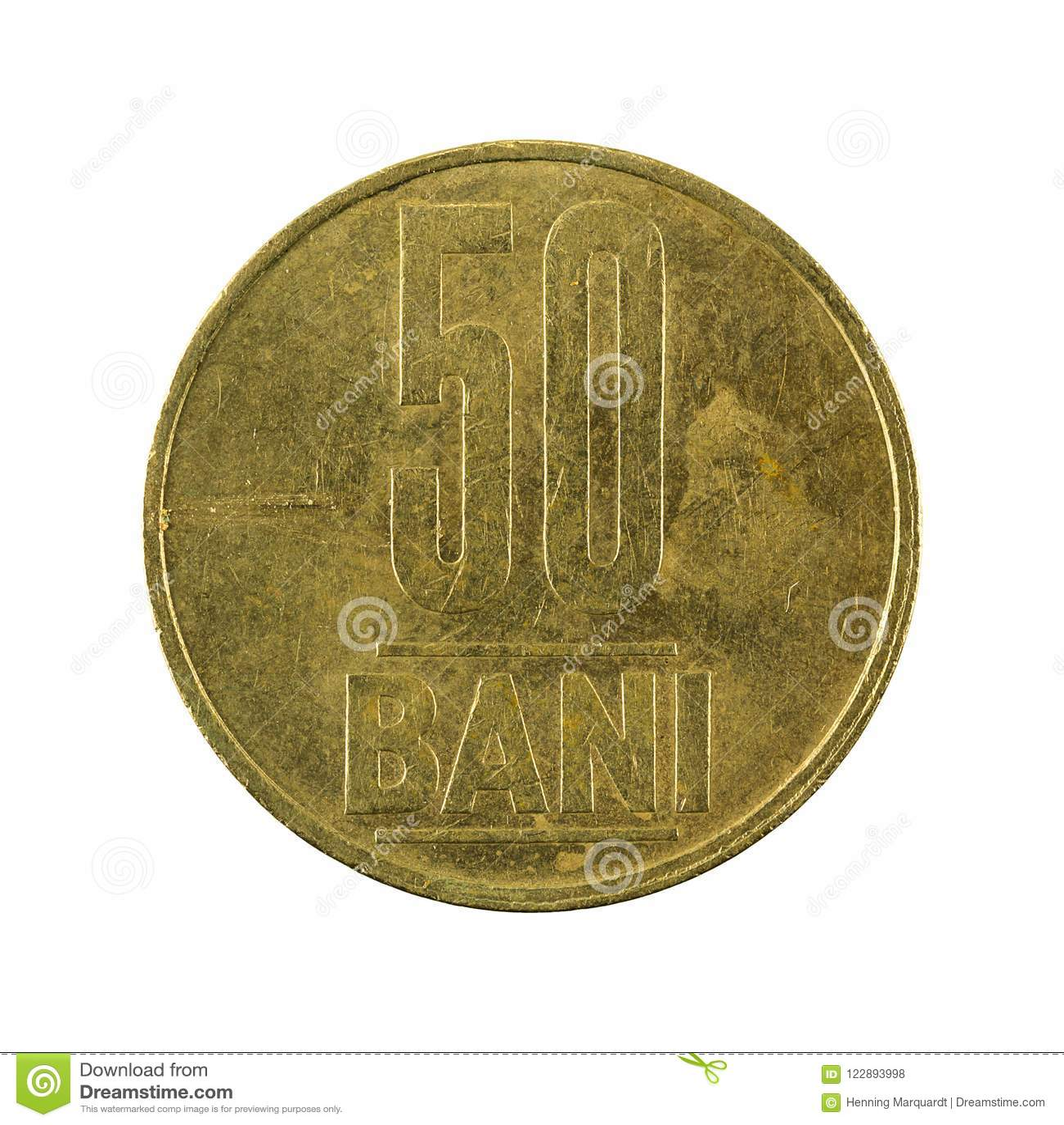 50 zakazu monety romanian 2005 awers odizolowywający na białym tle
