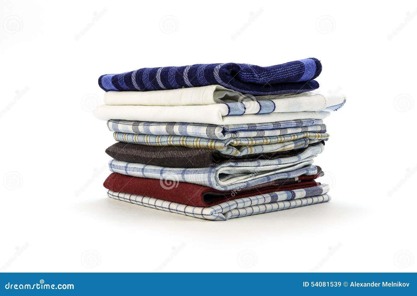 Zakdoeken voor mensen op een witte achtergrond