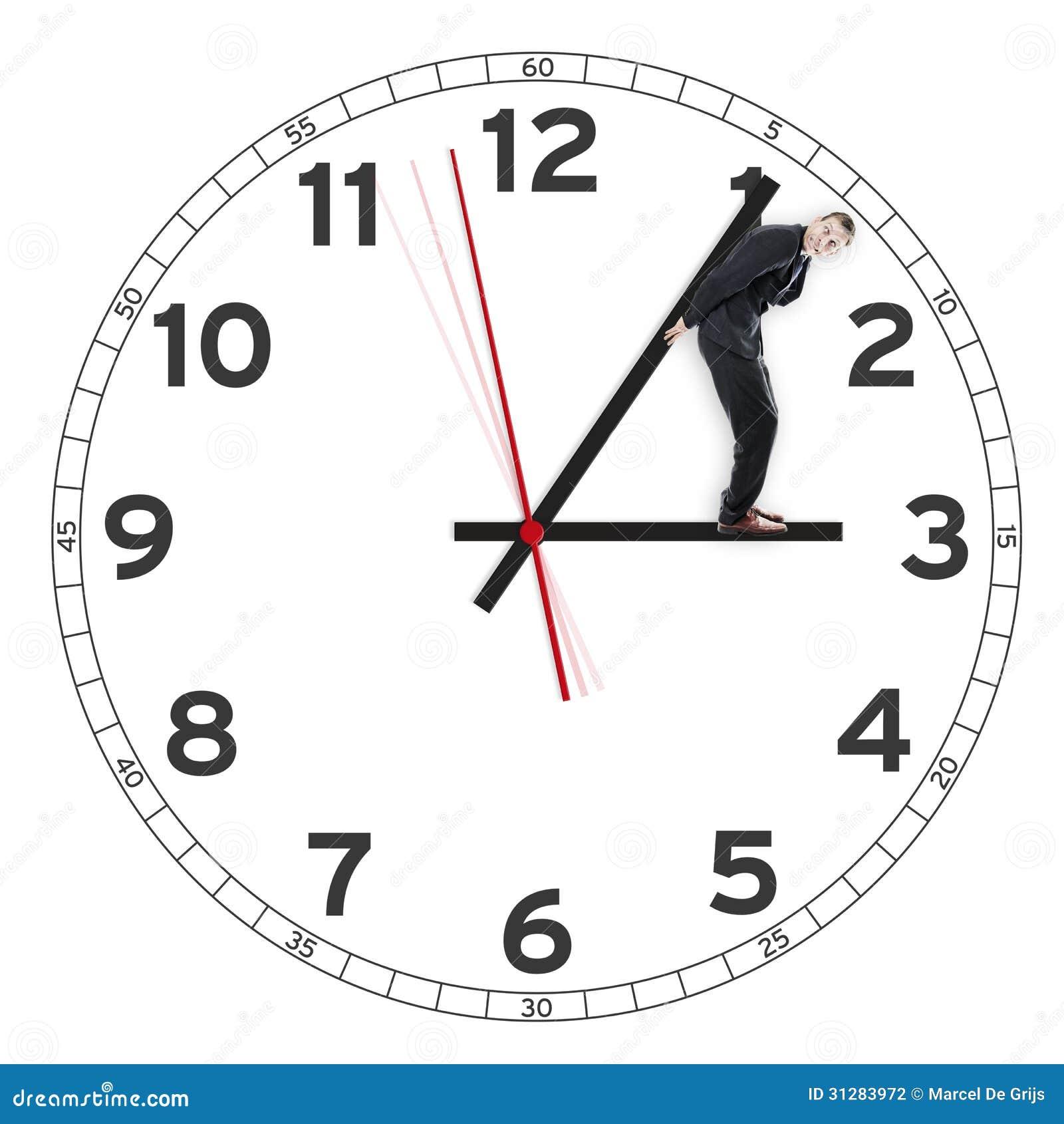 Zakenman Die De Tijd Tegenhouden Stock Illustratie ...
