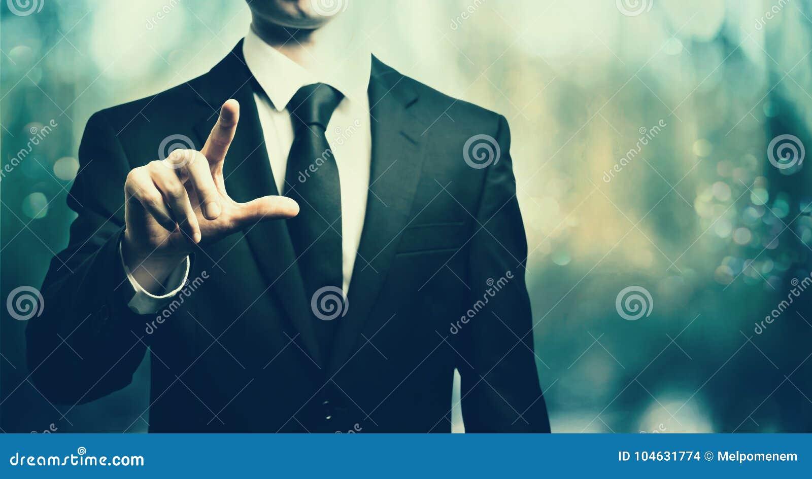 Download Zakenman Die Zijn Vinger Richt Stock Foto - Afbeelding bestaande uit pointing, licht: 104631774