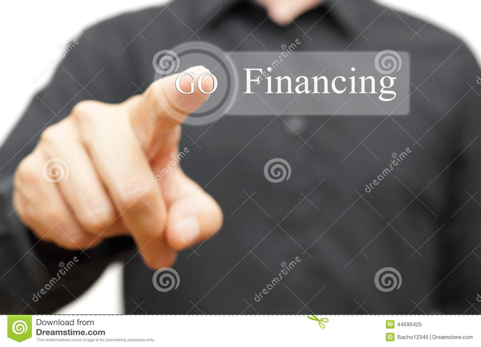 Zakenman dringende financierende knoop