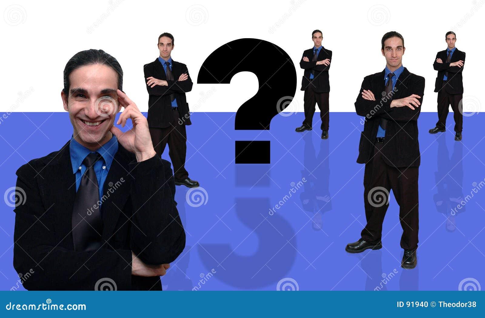 Zakenman en vraag-7