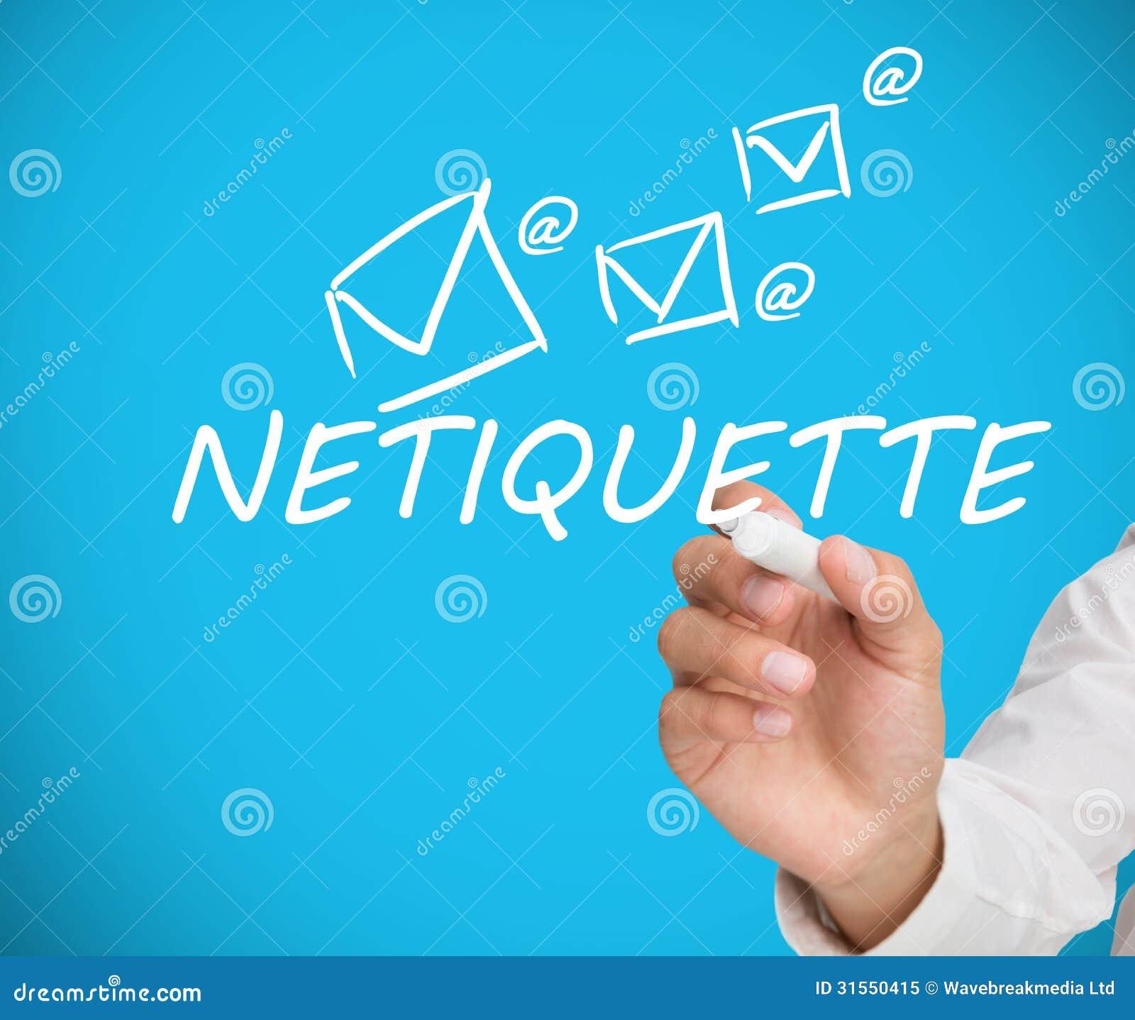 Zakenman het schrijven netiquette