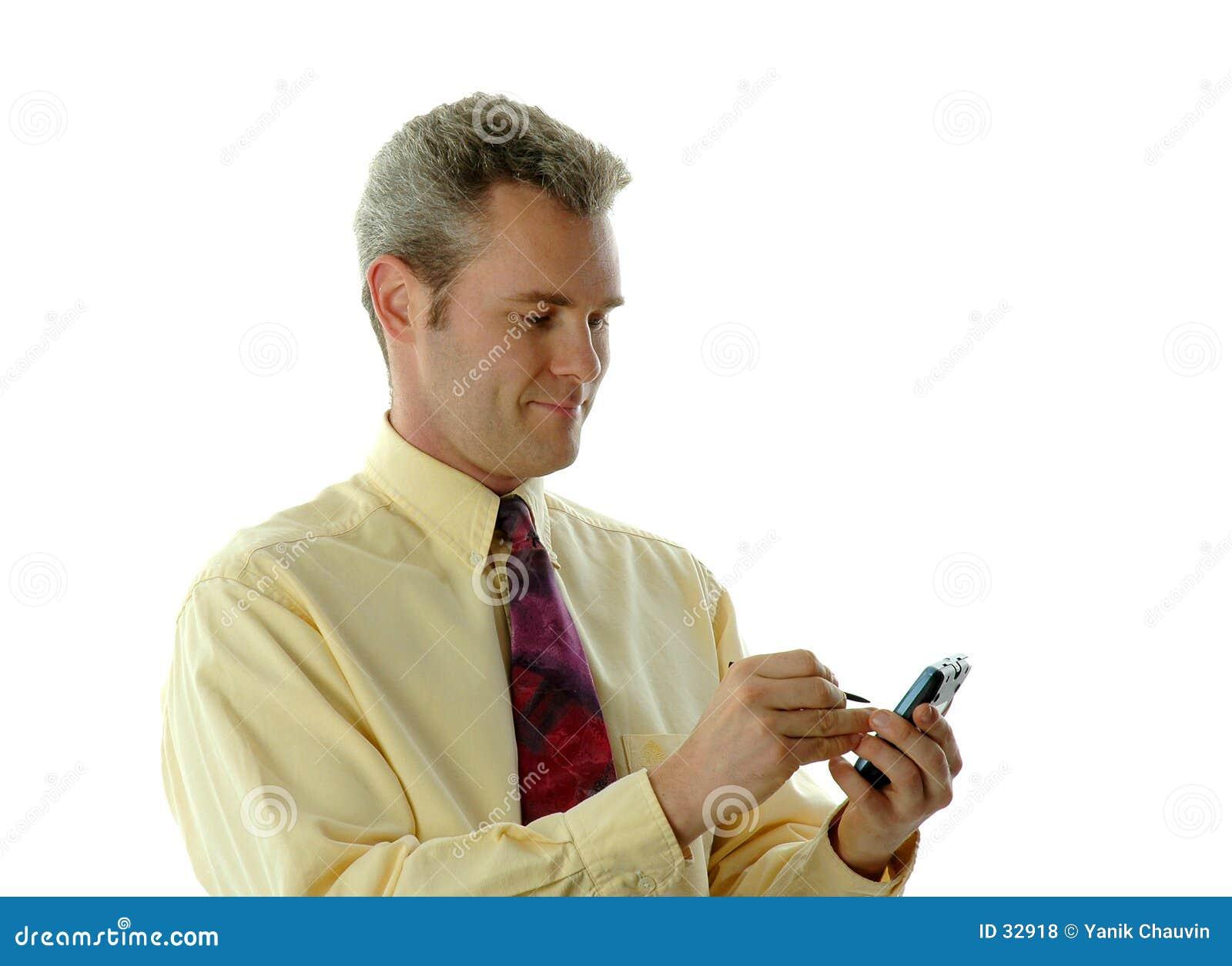 Zakenman met PDA