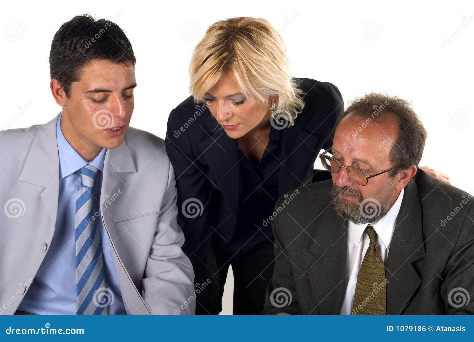 Zakenman met Zijn Partner