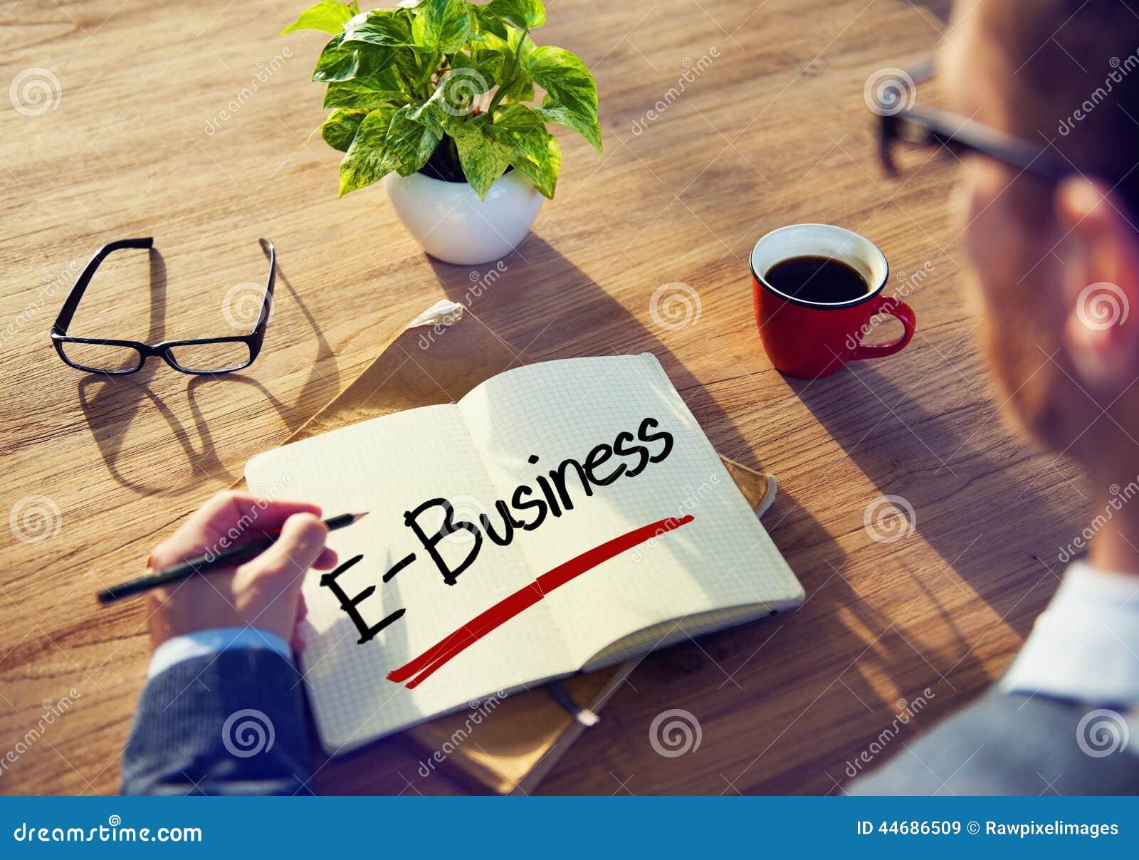 Zakenman Writing het Word E-business