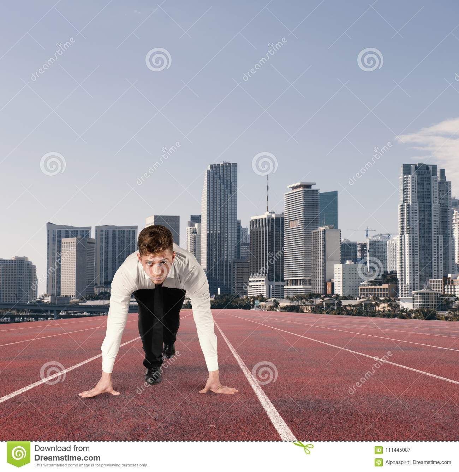 Zakenmanhandelingen zoals een agent De concurrentie en uitdaging in bedrijfsconcept
