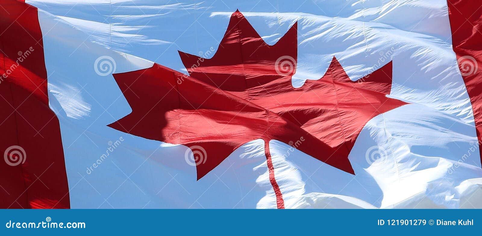 Zakończenie kanadyjczyk flaga falowanie
