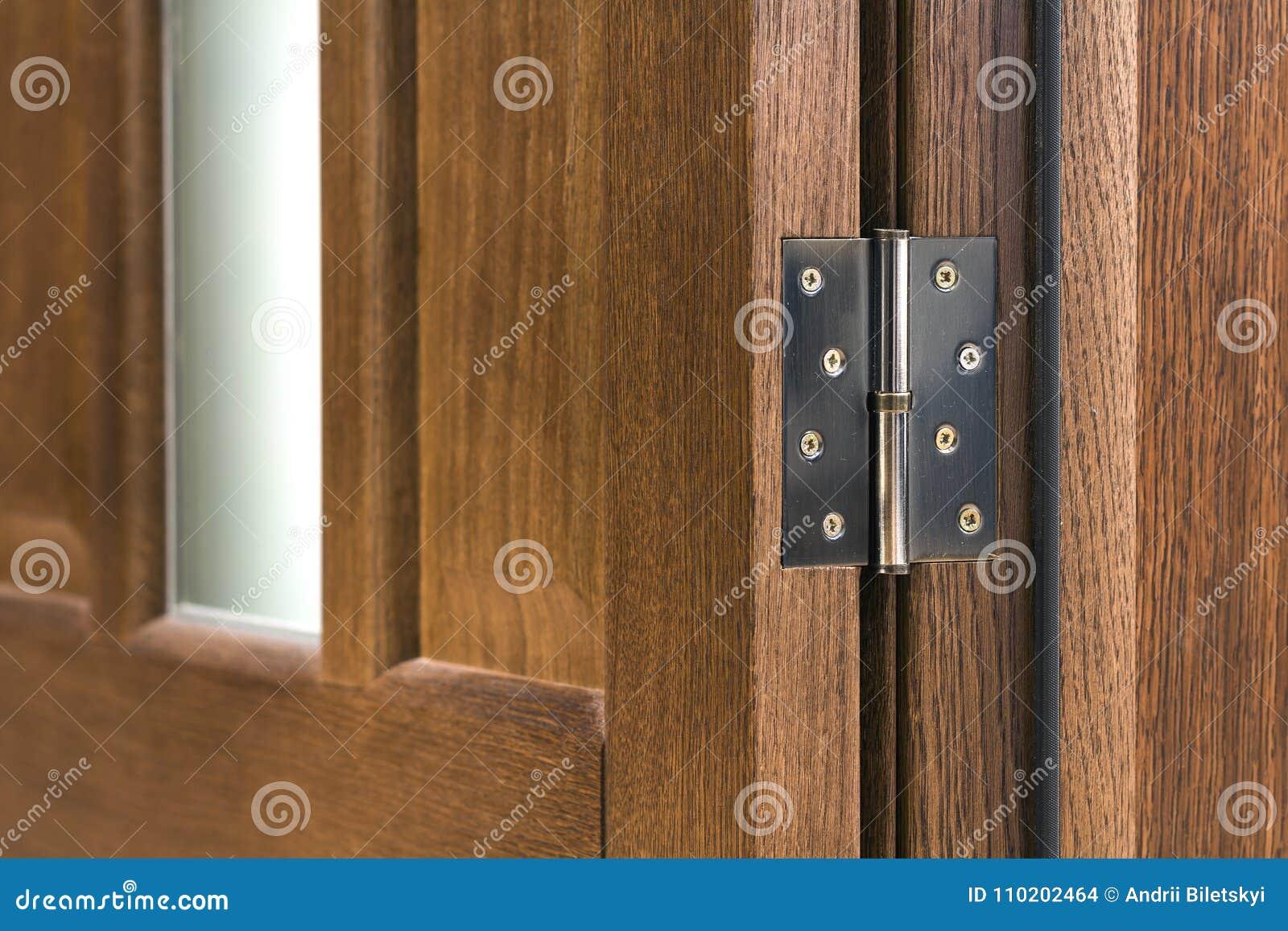 Zakończenie szczegół brown drewniany drzwi
