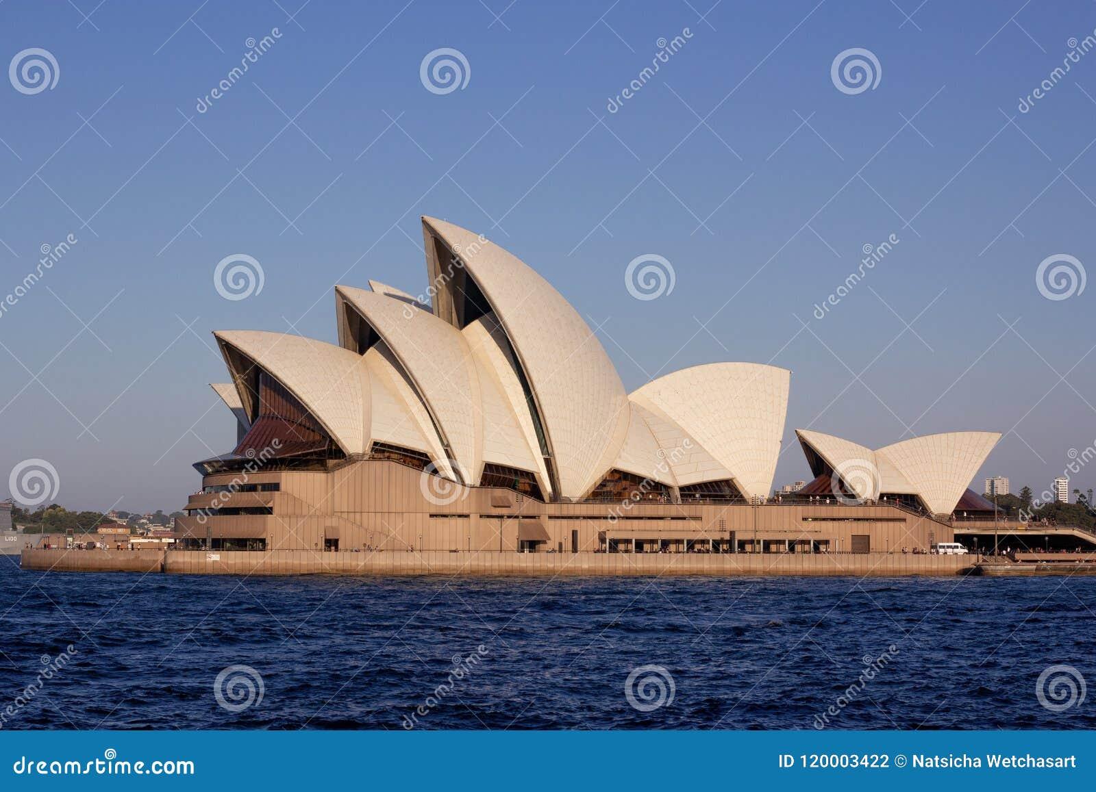 Zakończenie w górę Sydney opery podczas zmierzchu czasu jest ve