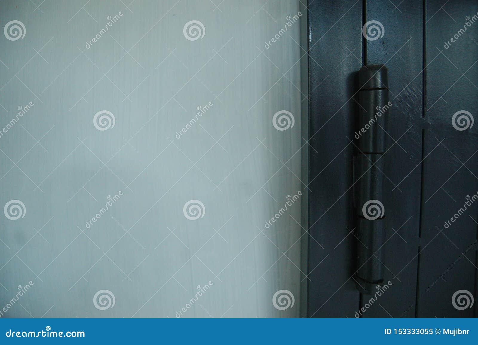 Zakończenie w górę tocznej drzwiowej czarnej koloru szczegółu tekstury - metal