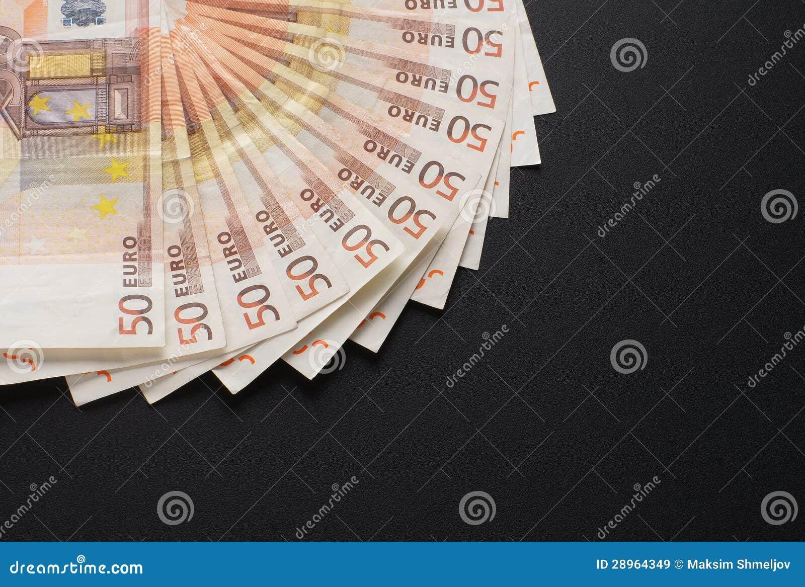 Zakończenie wizerunek 50 euro pieniędzy banknotów