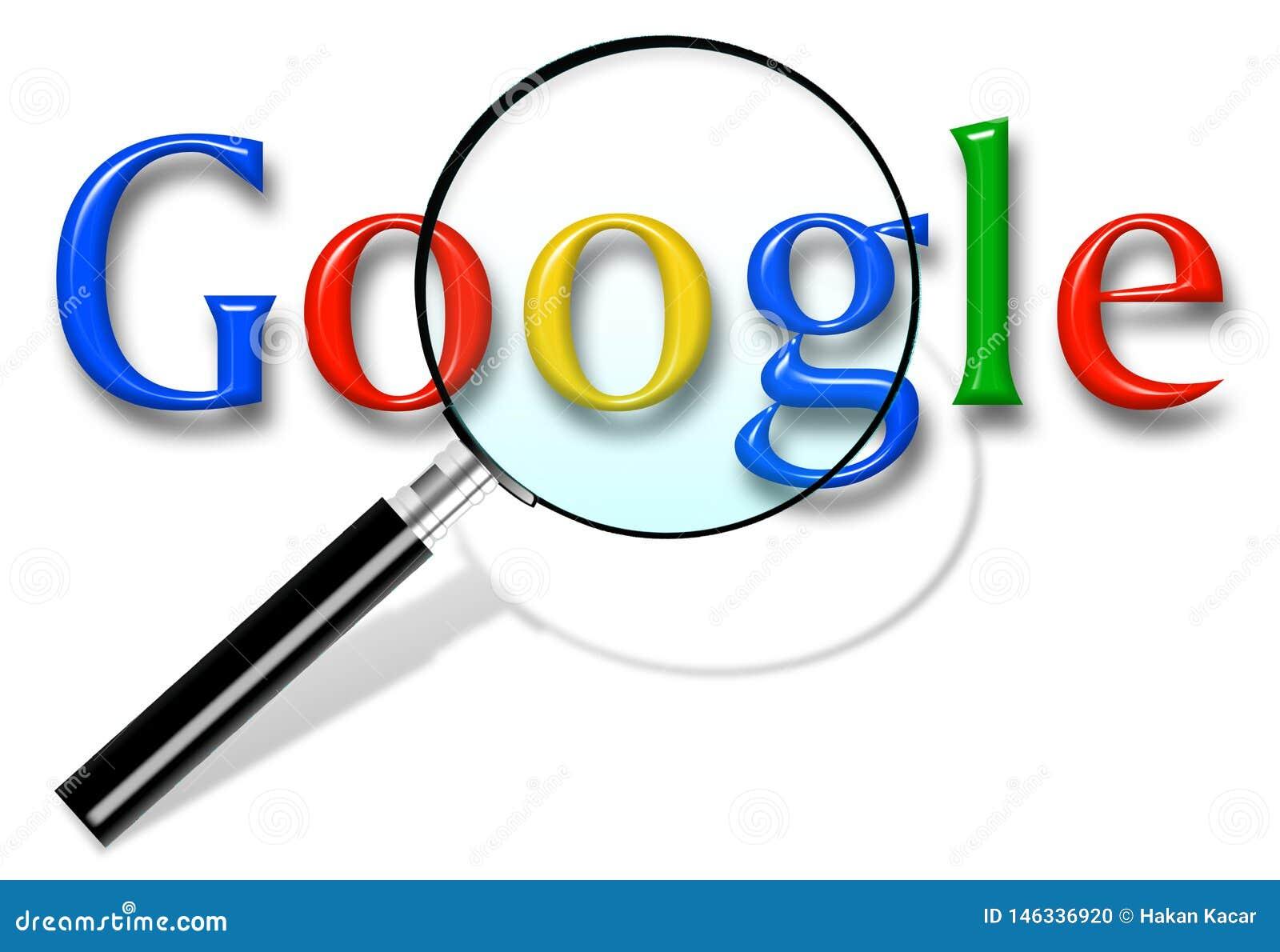 Zako?czenie w g?r? Google rewizji homepage i kursoru na parawanowym Google jest ?wiatami