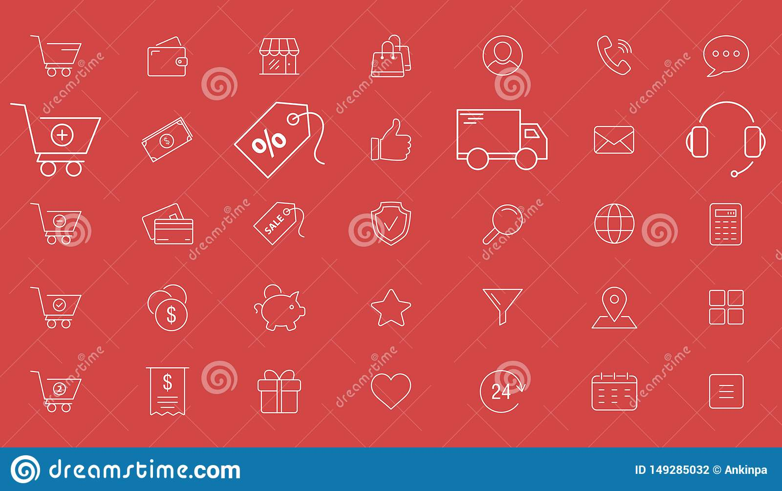 Zakupy ikony 01