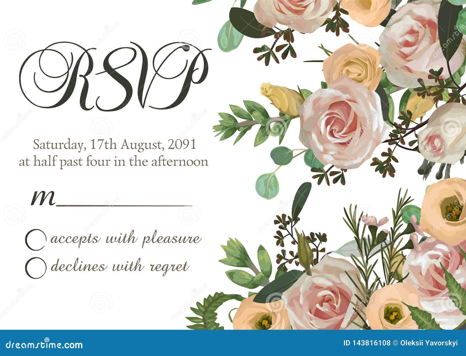 Zakurzone menchie, śmietankowa antyk róża, bladego kwiatu wektorowego projekta ravp ślubna rama Kwiaty, eustoma, brunia, paproć,