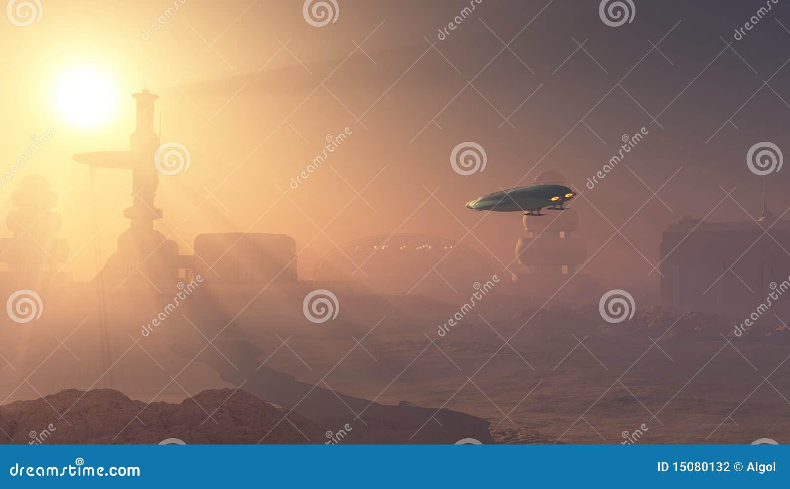 Zakurzony lądowanie mąci placówkę