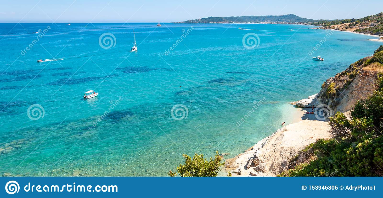 Zakynthos Island, Greece. A pearl of the Mediterranean with beaches and coasts suitable for unforgettable sea holidays