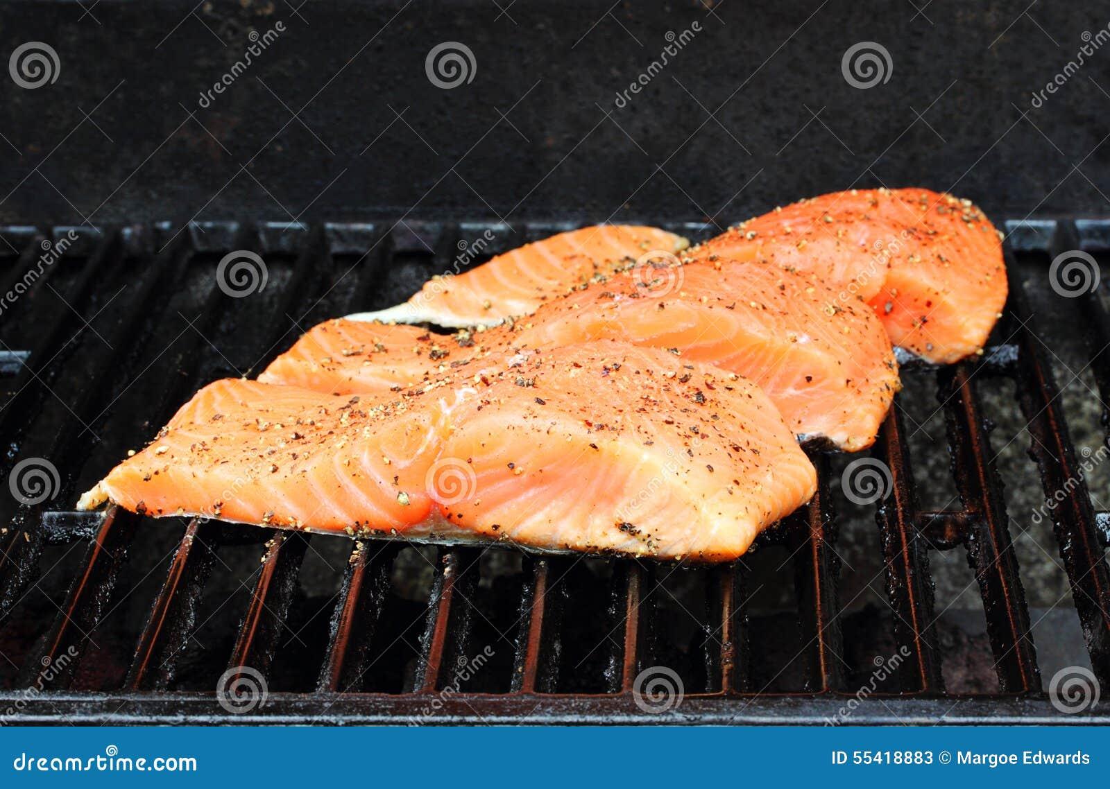 Zalm op de grill