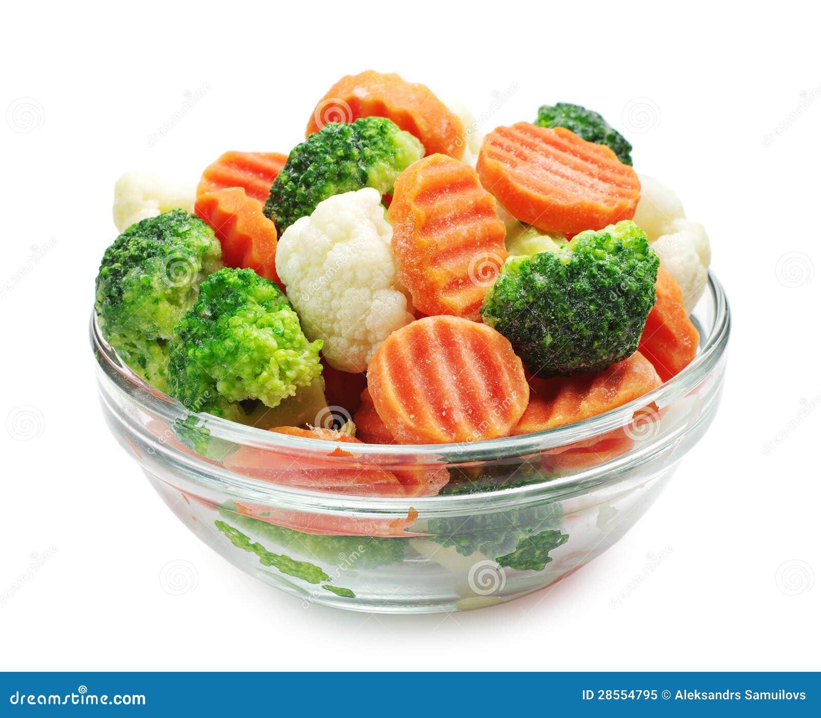 Zamarznięci warzywa
