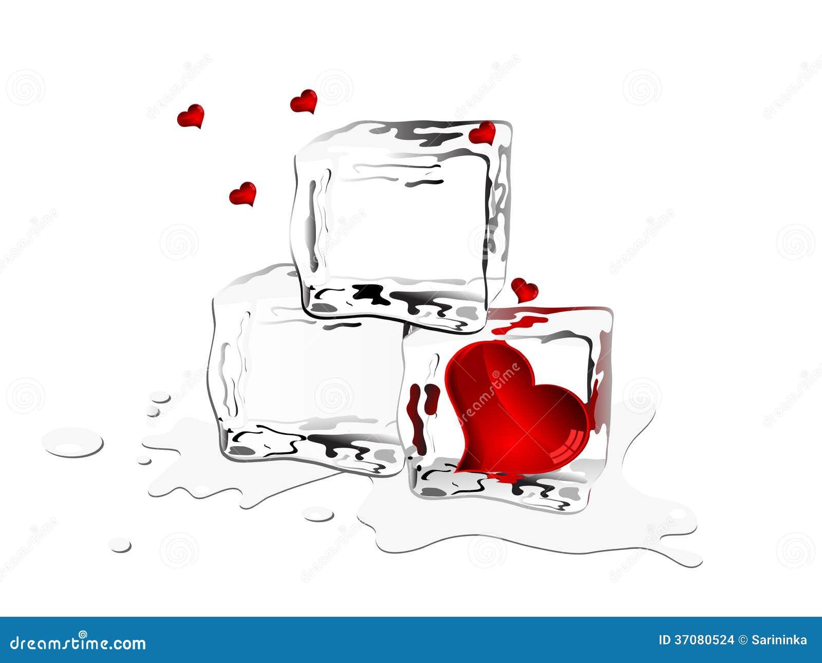 Download Zamarznięci serca ilustracja wektor. Ilustracja złożonej z pluśnięcie - 37080524