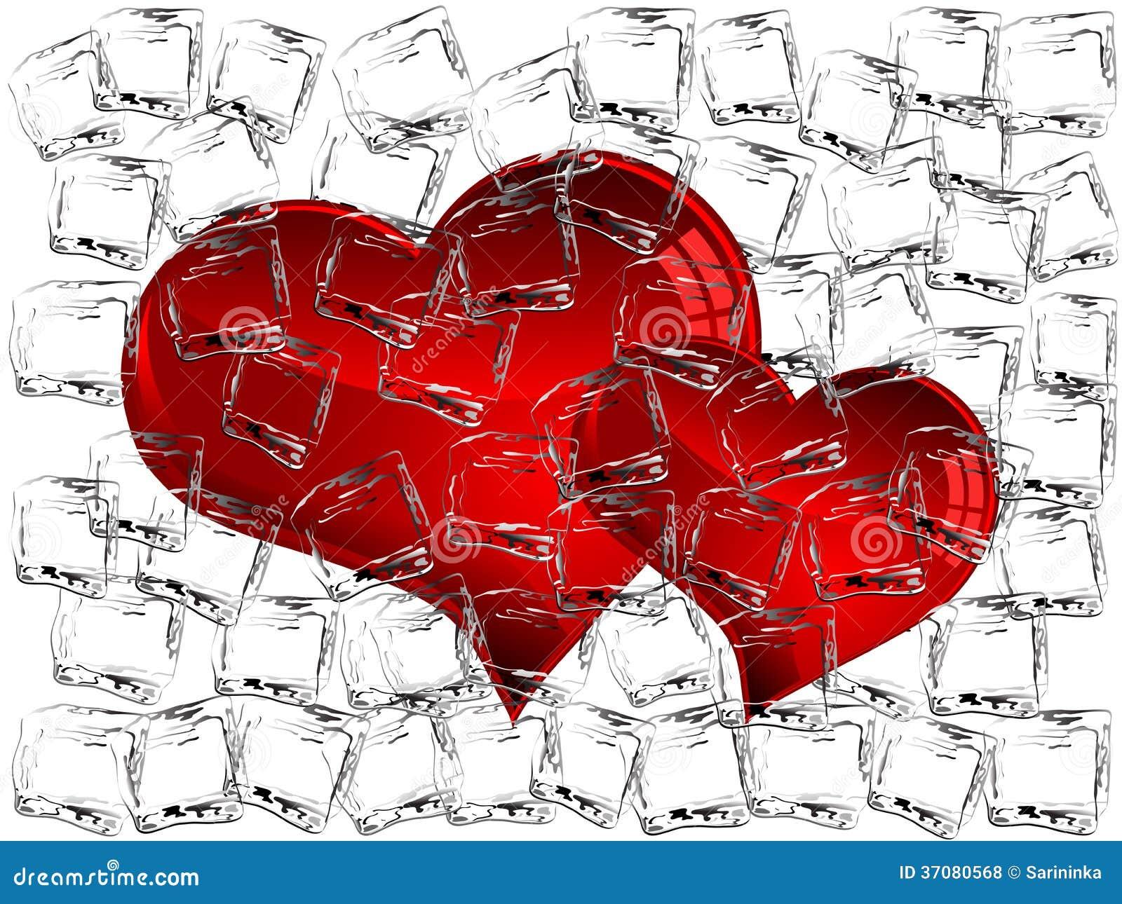 Download Zamarznięci serca ilustracja wektor. Ilustracja złożonej z abstrakcja - 37080568