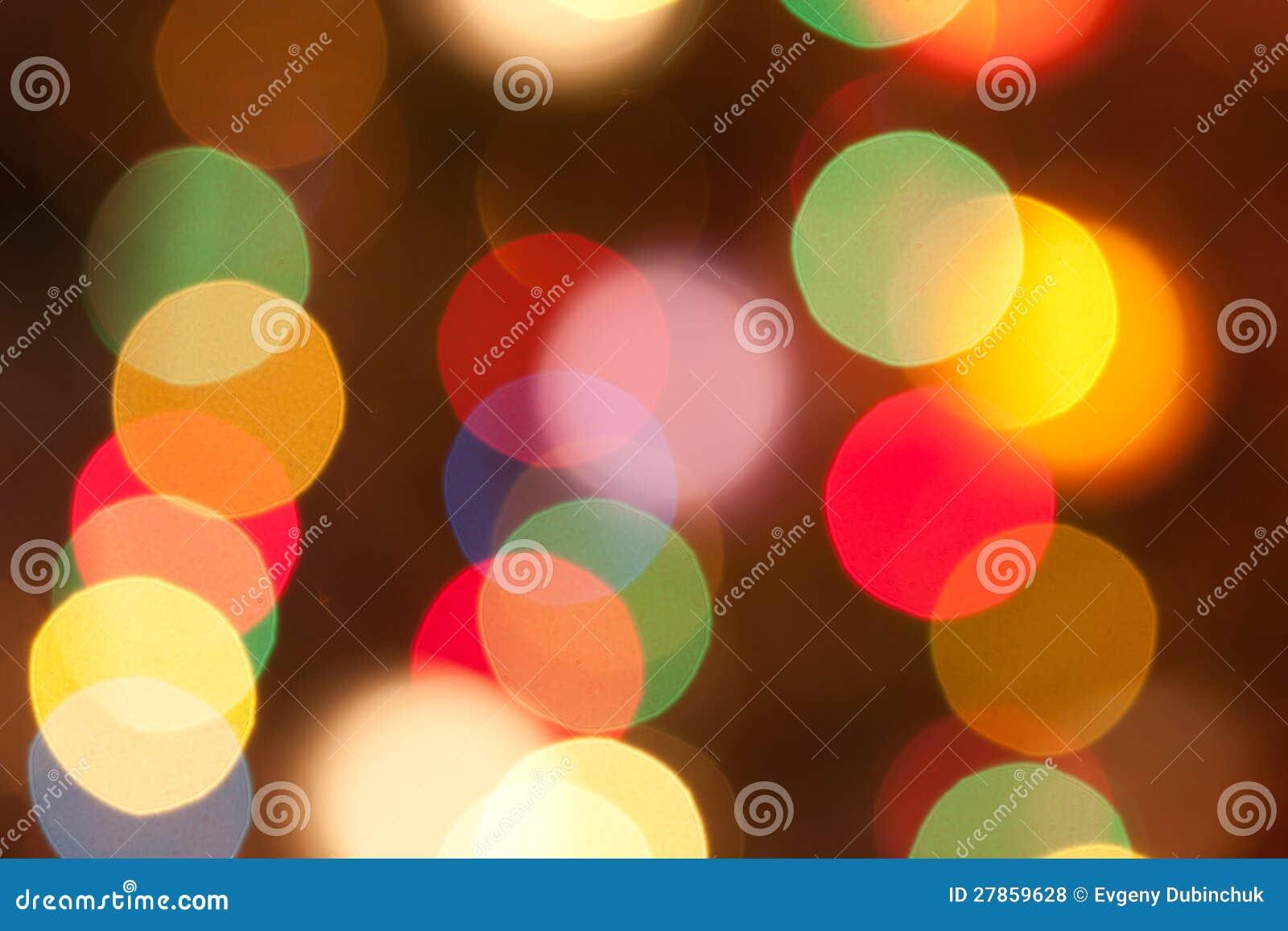 Zamazani Bożonarodzeniowe światła