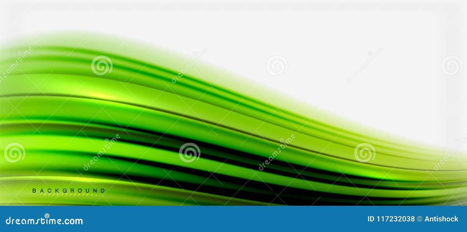 Zamazany fluid barwi tło, abstrakt fala linie, wektorowa ilustracja
