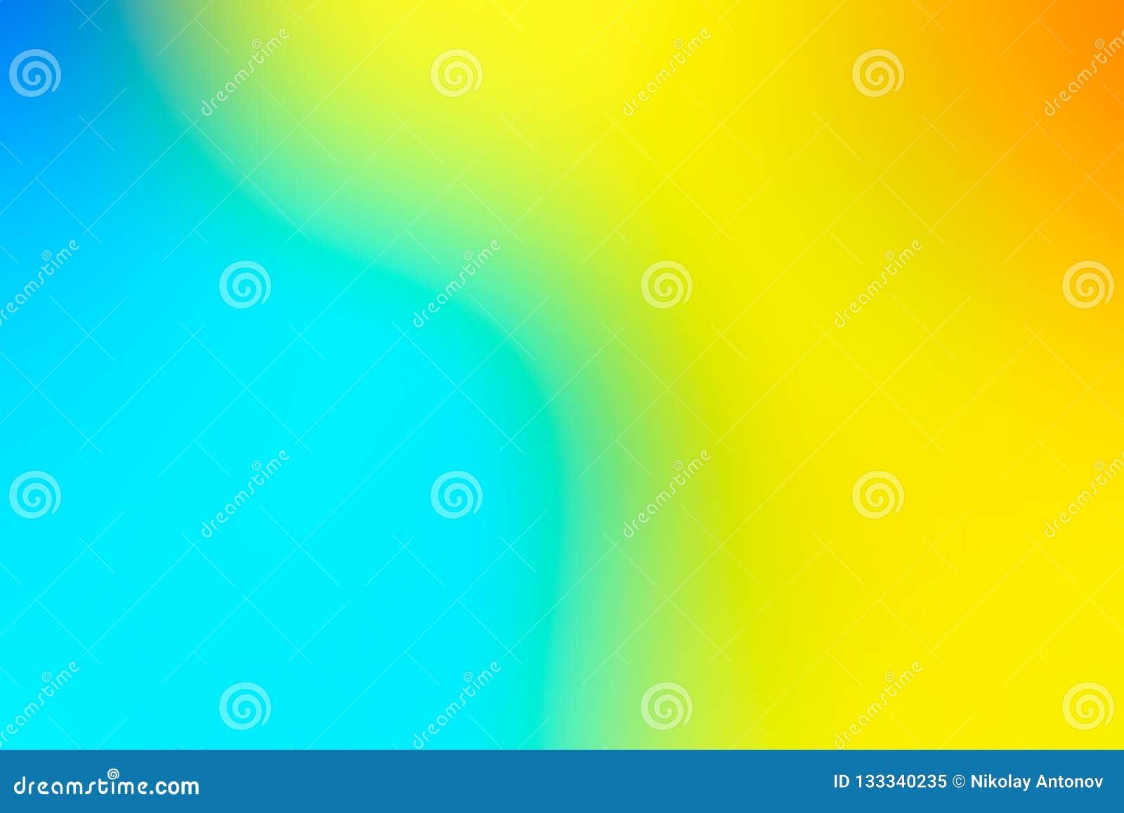 Zamazany tło w wibrujących neonowych kolorach Stubarwny rozmyty tekstura wzór dla projekta niebieski tła żółty