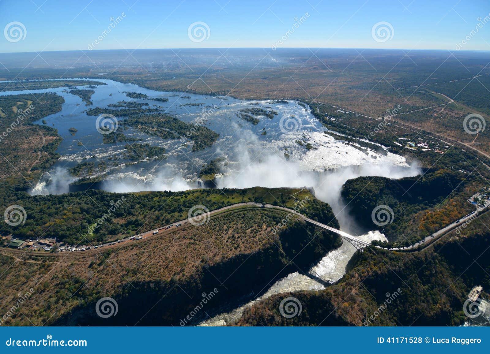 Zambesi river and Victoria Falls. Zimbabwe