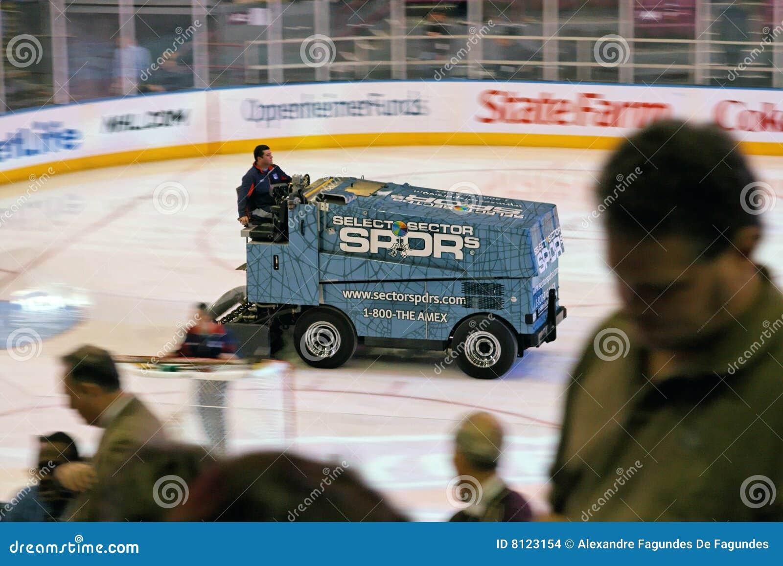 Zamboni In Hockey Game Madison Square Garden Editorial