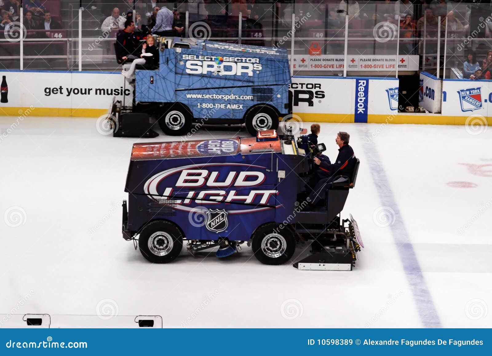 Zamboni in Ice Hockey Game