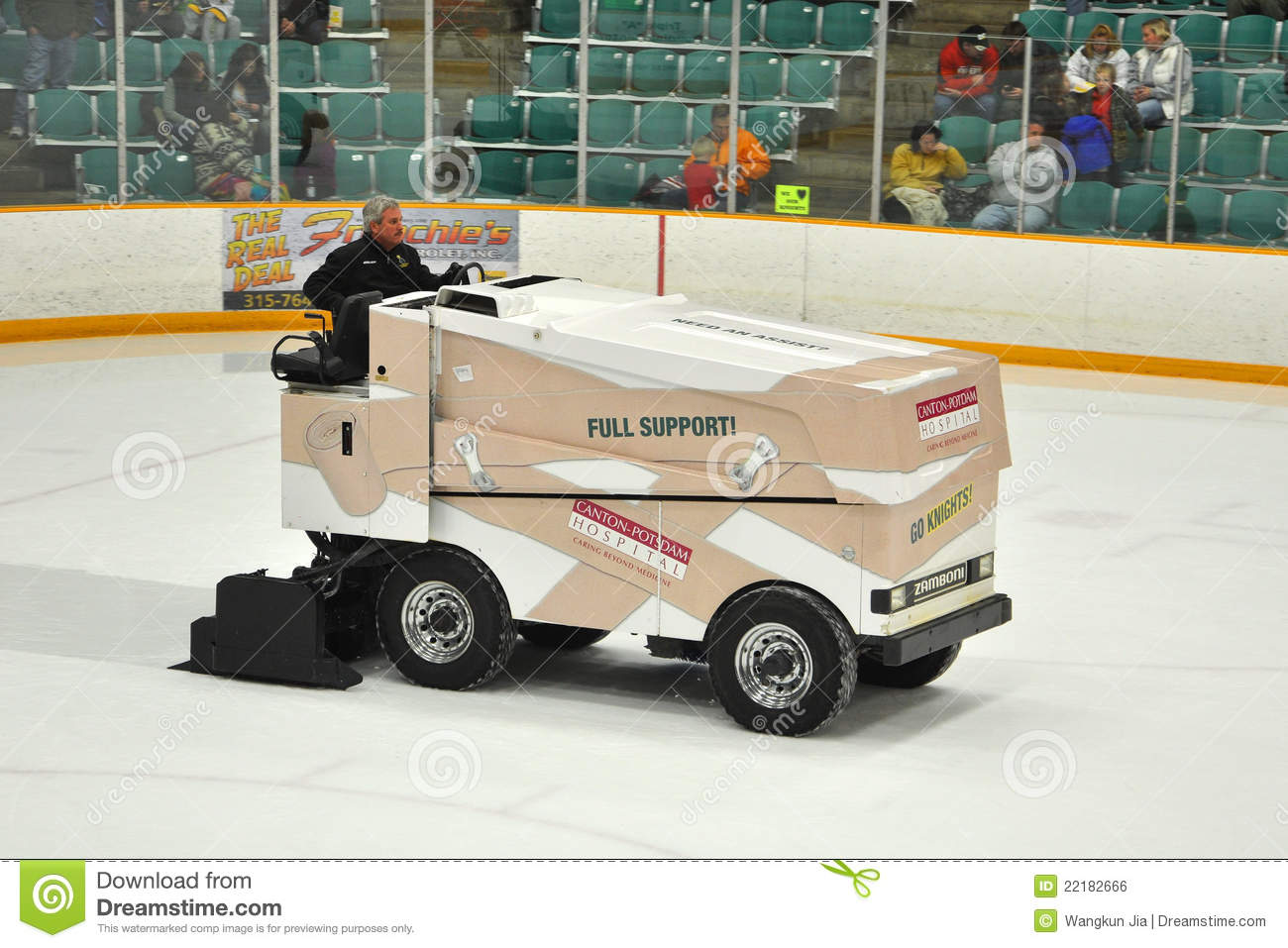 Zamboni in ncaa hockey game editorial photo image 22182666 for Floor zamboni