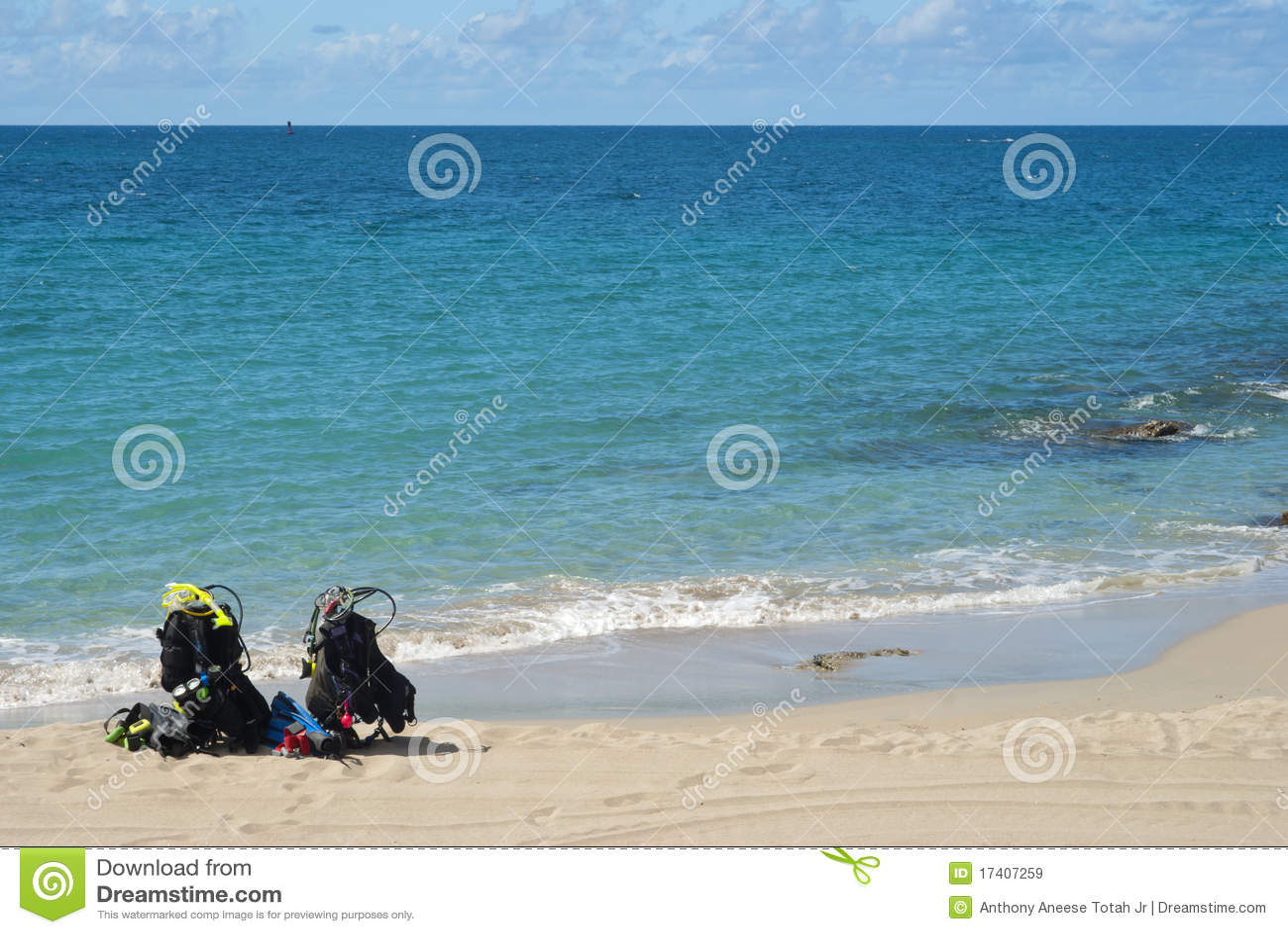 Zambullida de la playa