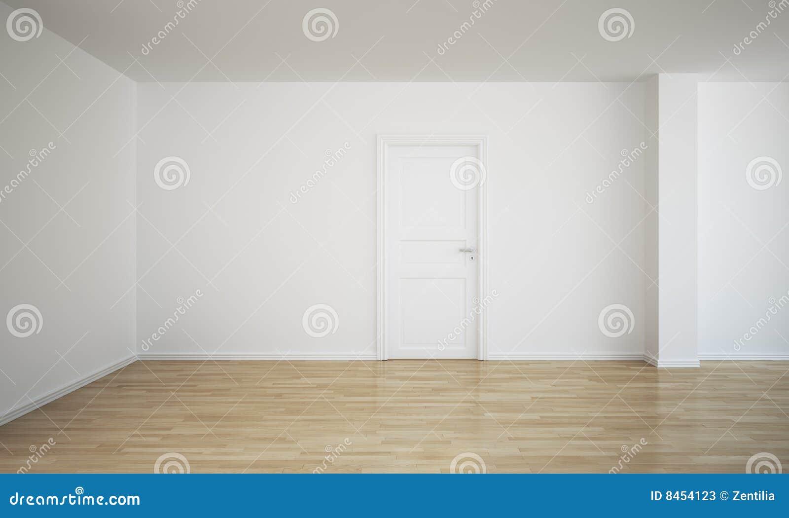 Zamkniętego drzwi pusty pokój