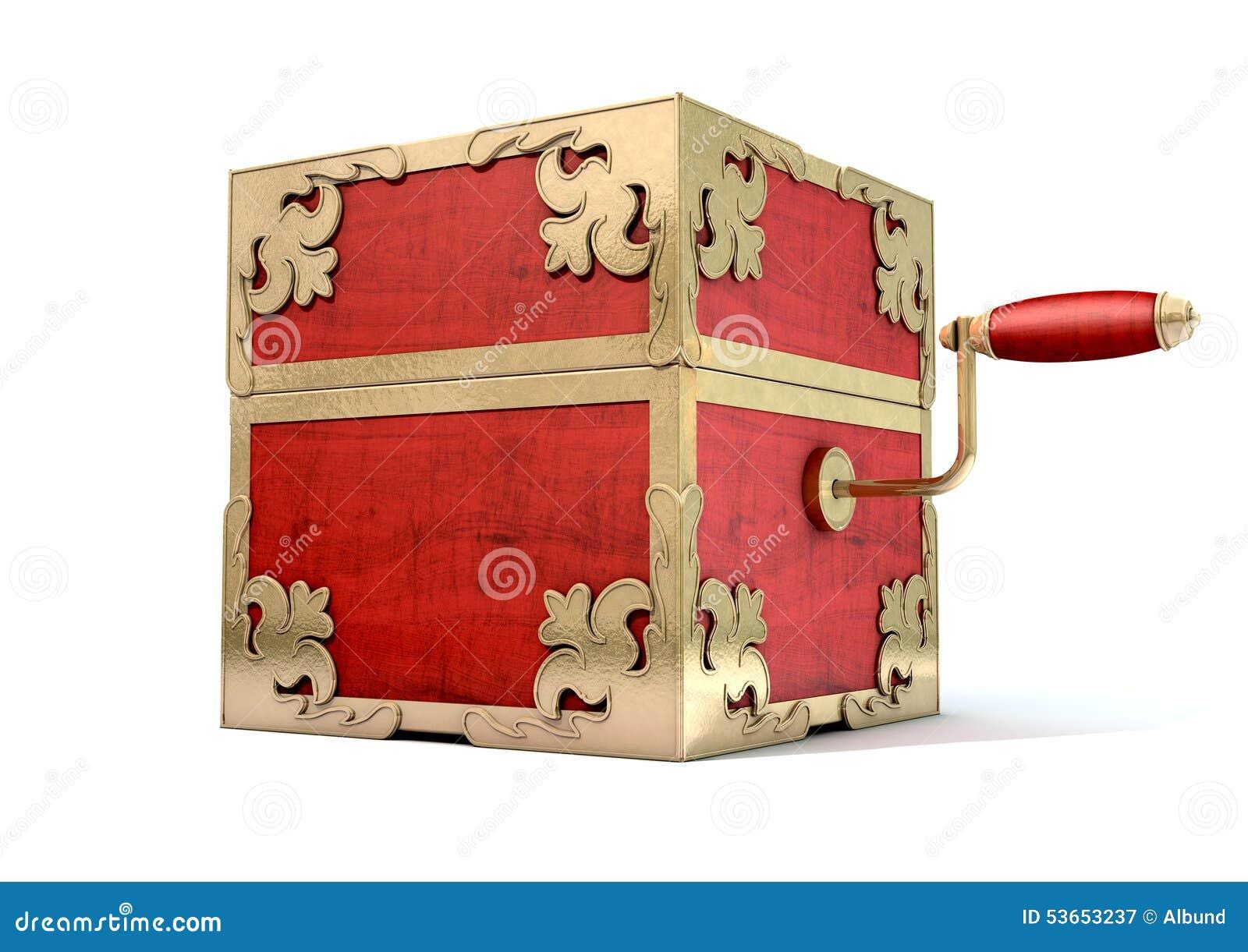 Zamknięty pudełko antyk