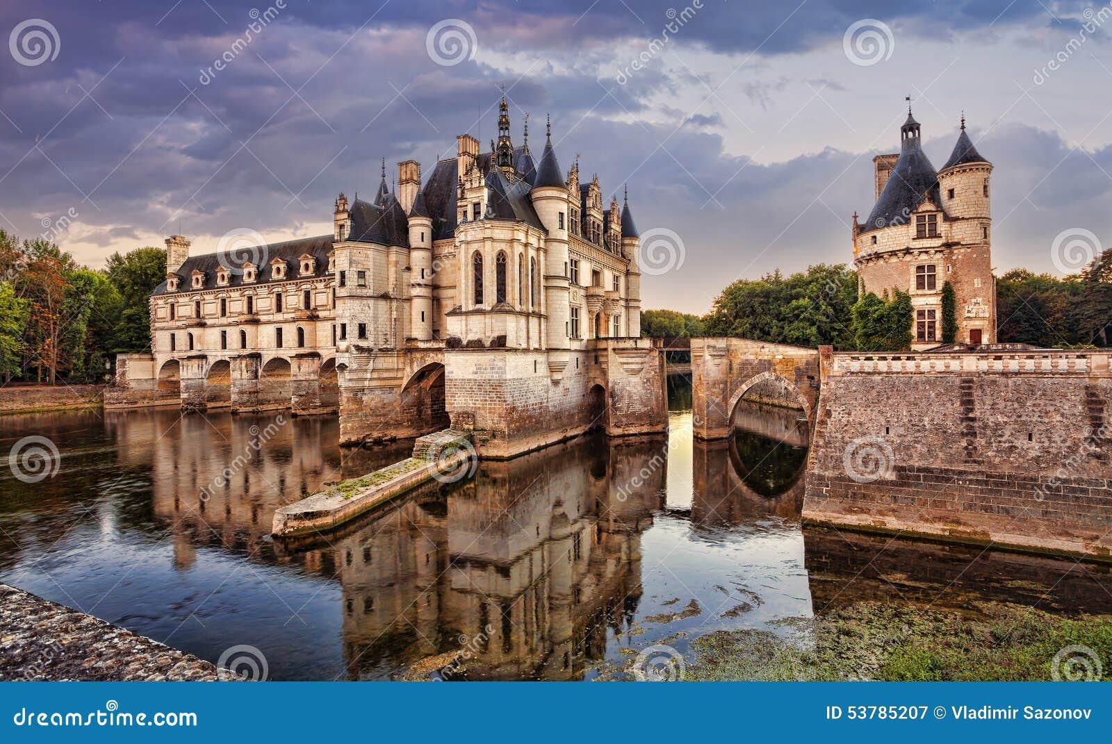 Zamku de France chenonceau Loire valley Francja