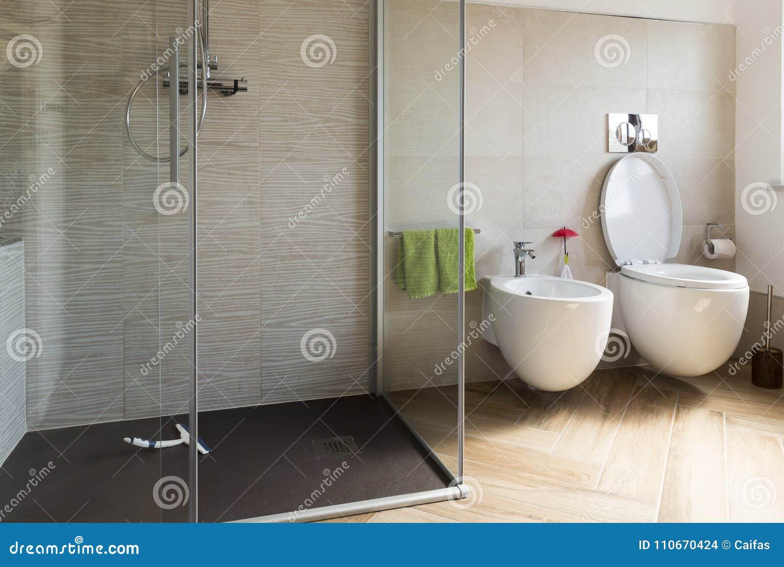 Zamyka Up Bidet I Wc W łazience Zdjęcie Stock Obraz