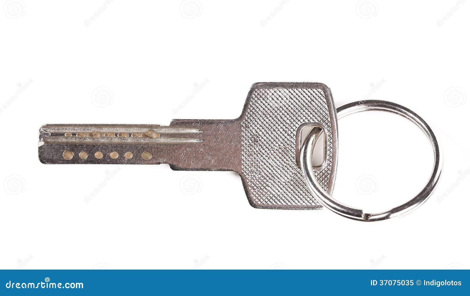 Download Zamyka Up Stal Klucz Z Pierścionkiem. Obraz Stock - Obraz złożonej z zaświecający, metal: 37075035