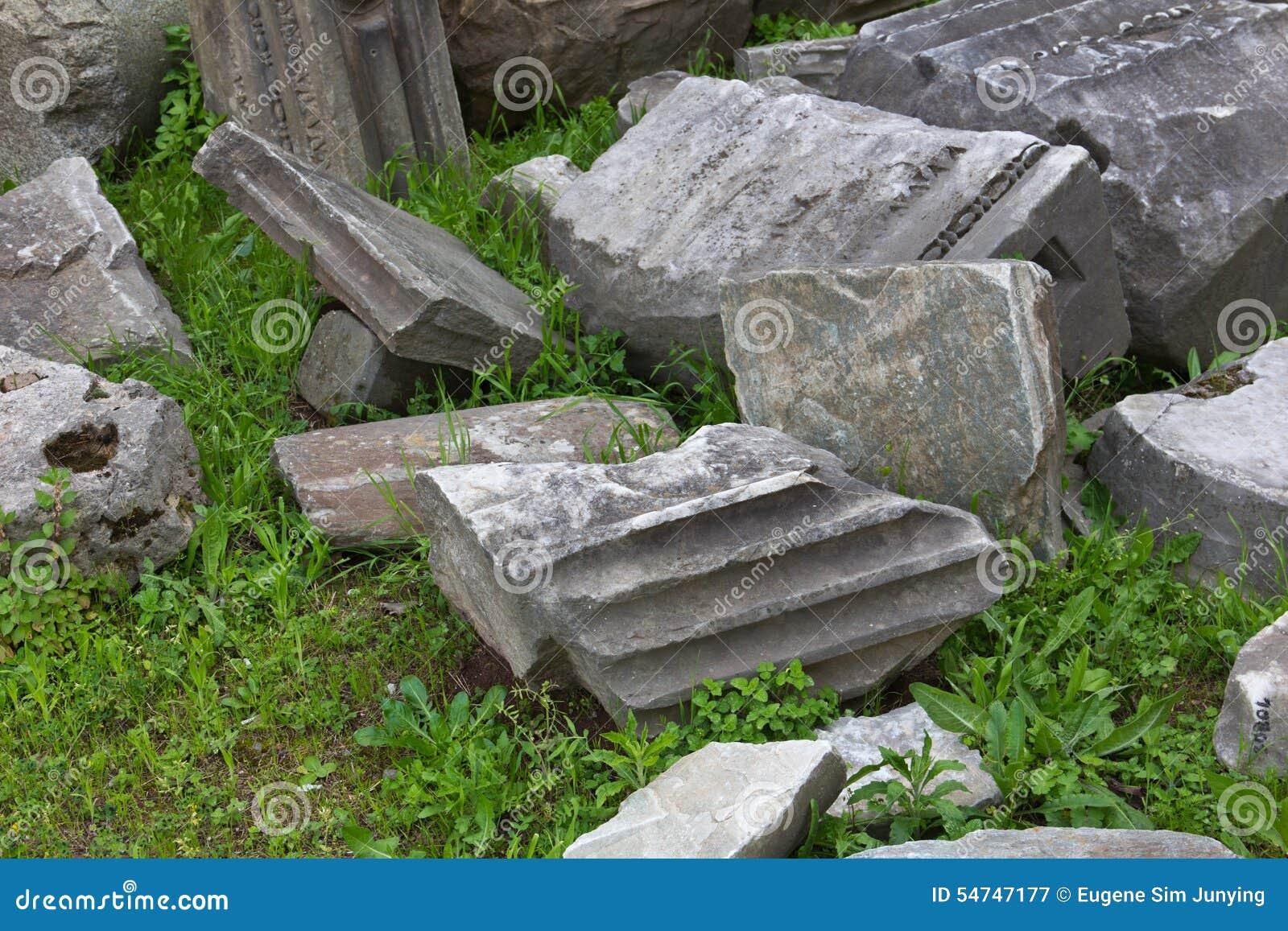 Zamyka up wykopywane antyczne rzymskie struktury