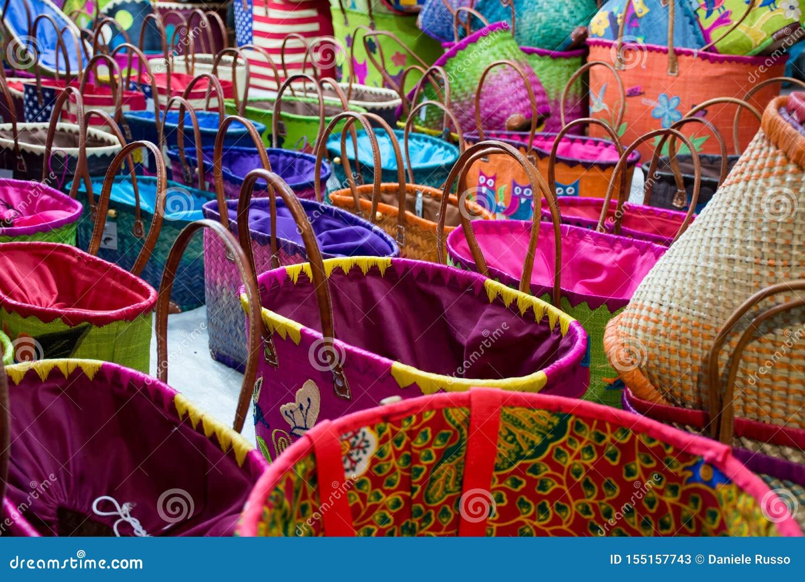 Zamyka W górę Barwionych Bawełnianych toreb