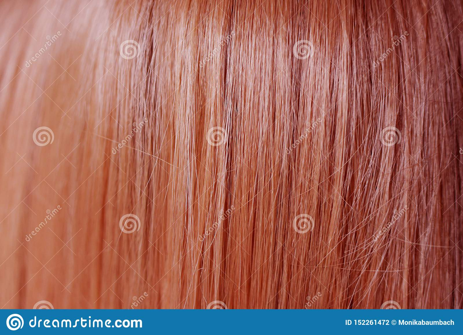 Zamyka w górę gładkiego i prostego imbirowego czerwonego włosianego koloru
