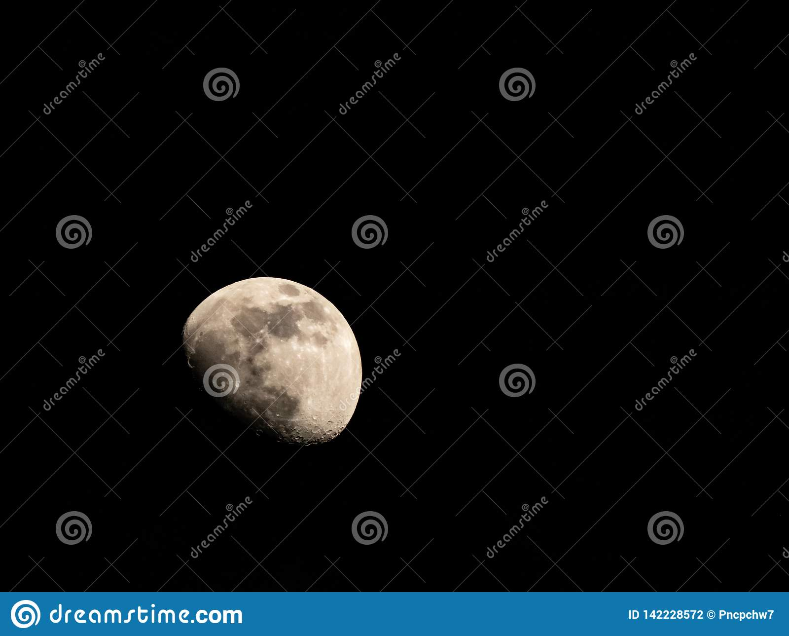 Zamyka w górę strzału przyrodnia księżyc