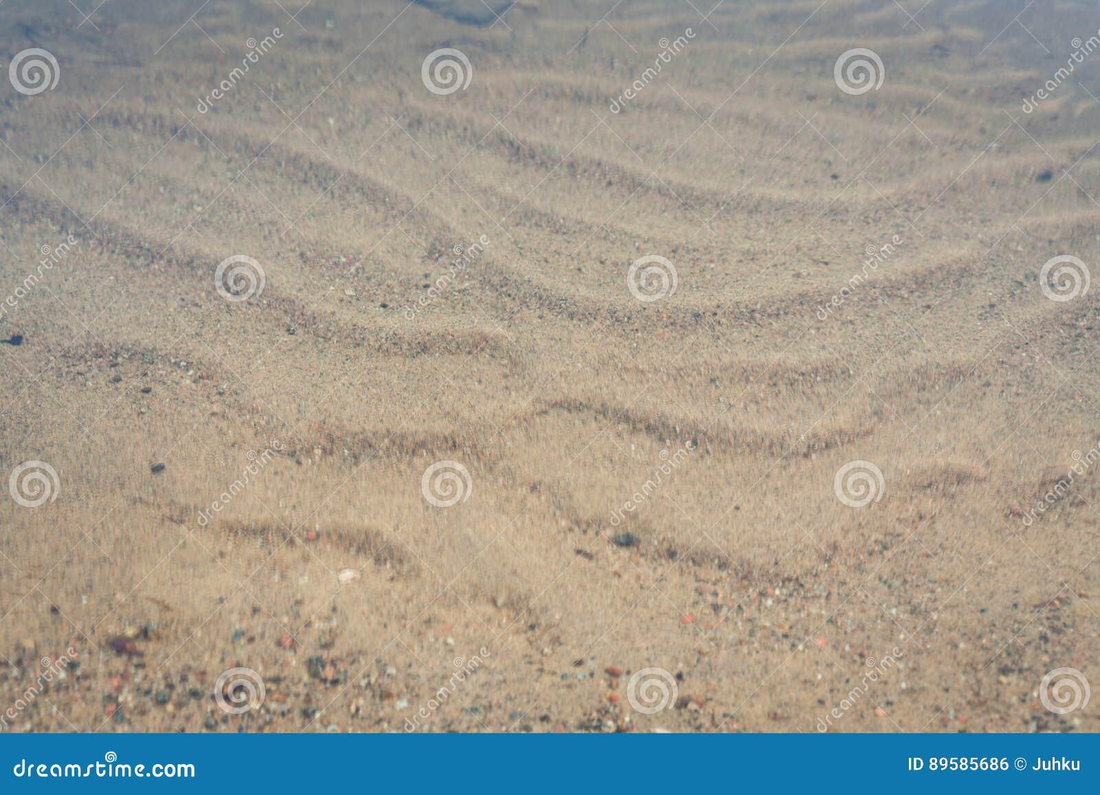 Zand door golven wordt gevormd die